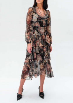 Платье-миди Twin-Set с крупными оборками, фото