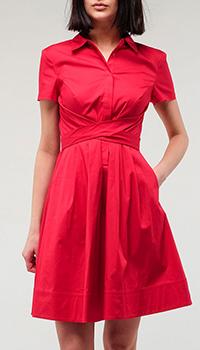 Красное платье Twin-Set с коротким рукавом, фото
