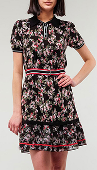 Короткое платье Twin-Set с цветочным принтом, фото