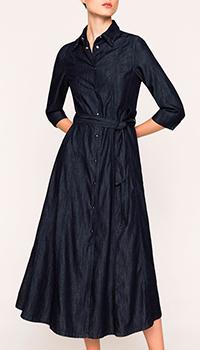 Джинсовое платье Twin-Set темно-синего цвета, фото