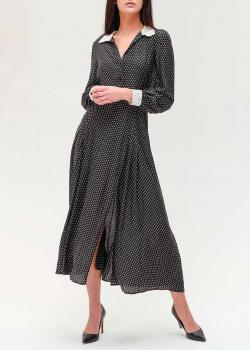 Черное платье Twin-Set в горох, фото