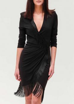 Черное платье Twin-Set с бахромой, фото