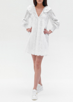Белое платье Twin-Set с рюшами, фото