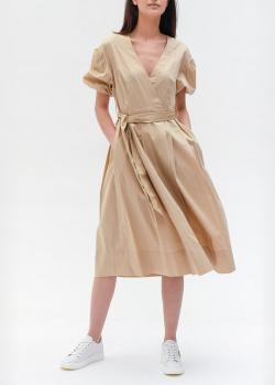 Бежевое платье Twin-Set с рукавами-воланами, фото