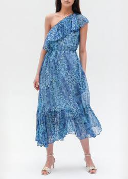 Синее платье Twin-Set на одно плечо, фото