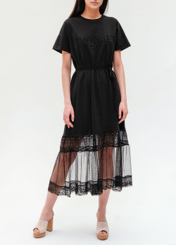 Платье-футболка Twin-Set с кружевом, фото