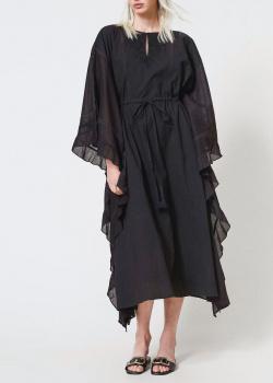 Черное платье-миди Twin-Set свободного кроя, фото