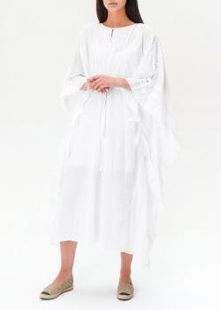 Белое платье Twin-Set с оборками, фото