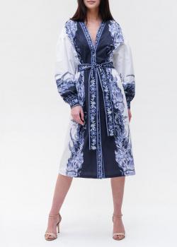 Платье-миди Twin-Set с пышными рукавами, фото
