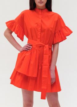 Красное платье Twin-Set с рюшами, фото
