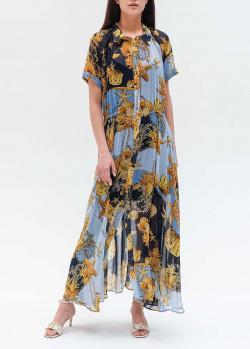 Длинное платье-рубашка Twin-Set с морским принтом, фото