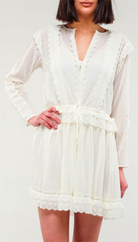 Кружевное платье Twin-Set белого цвета, фото