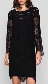 Кружевное платье Twin-Set черного цвета, фото