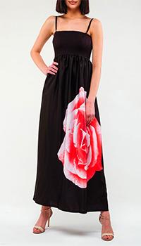 Черное платье Twin-Set с розой, фото
