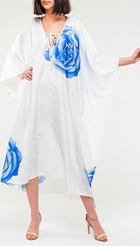 Белое платье Twin-Set с голубыми цветами, фото