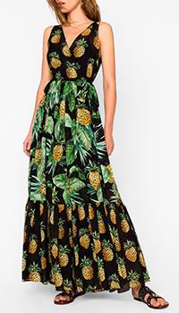 Платье Twin-Set с ананасовым принтом, фото
