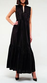 Платье Twin-Set черного цвета в пол, фото