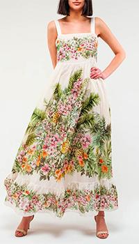 Платье Twin-Set с тропическим принтом, фото