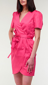 Розовое платье Twin-Set на запах, фото
