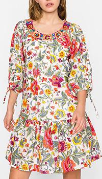 Короткое платье Twin-Set с растительным принтом, фото