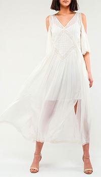 Платье-миди Twin-Set белого цвета, фото