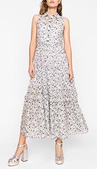 Длинное платье Twin-Set с морским принтом, фото