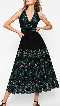 Длинное платье Twin-Set с цветочной вышивкой, фото