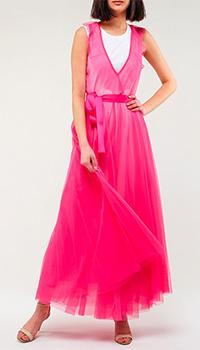 Розовое платье Twin-Set для вечернего выхода, фото
