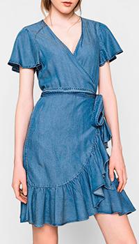 Джинсовое платье Twin-Set с оборками, фото