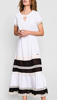 Белое платье Twin-Set с прозрачными вставками, фото