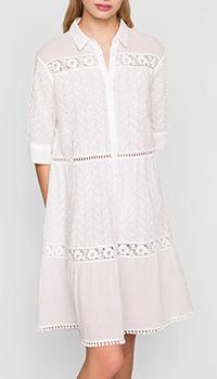 Платье-рубашка Twin-Set белого цвета, фото