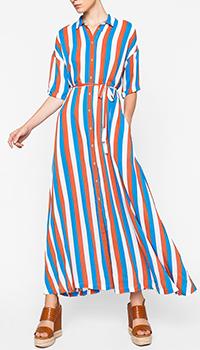 Длинное платье-рубашка Twin-Set в полоску, фото