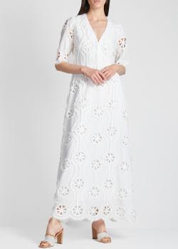 Длинное платье Valerie Khalfon из прошвы, фото