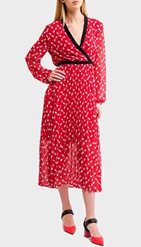 Красное платье Liu Jo с принтом губ, фото