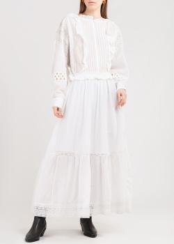 Белое платье Zadig & Voltaire с пышными рукавами, фото