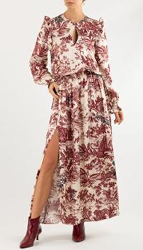 Белое платье Zadig & Voltaire с растительным принтом, фото