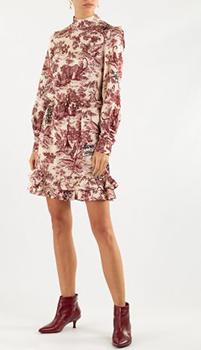 Платье с оборками Zadig & Voltaire белого цвета, фото