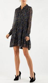 Платье-рубашка Zadig & Voltaire с принтом-звезды, фото