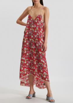 Шелковое платье Zadig & Voltaire красного цвета, фото