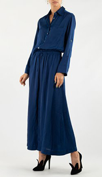 Платье-рубашка Zadig & Voltaire синего цвета, фото