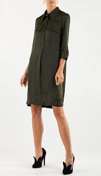 Платье-рубашка Zadig & Voltaire цвета хаки, фото