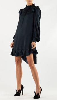 Темно-синее платье Zadig & Voltaire с рюшами, фото