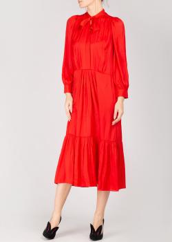Красное платье Zadig & Voltaire с бантом на шее, фото