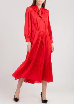 Красное платье Zadig & Voltaire с длинным рукавом, фото