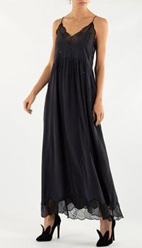 Черное платье Zadig & Voltaire с декором-стразами, фото