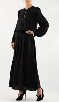 Длинное платье Zadig & Voltaire с принтом под питона, фото
