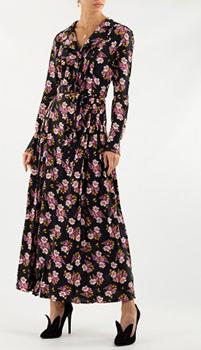 Длинное платье Zadig & Voltaire с цветочным притом, фото