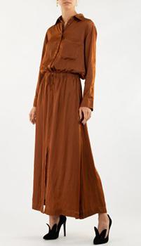 Коричневое платье Zadig & Voltaire с разрезом, фото