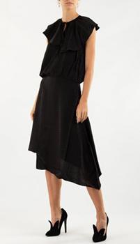 Ассиметричное платье Zadig & Voltaire темно-коричневого цвета, фото