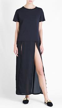 Черное платье J.B4 Just Before с принтом на спине, фото